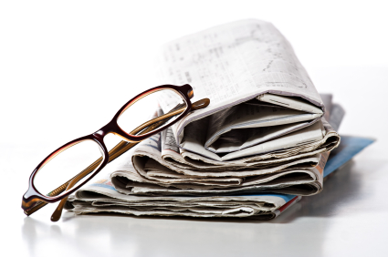 glasses newspapers