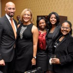 Halliburton's Sherry Williams, Ginene Lewis and guests.