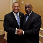 Current National Bar Association president, John Page and legendary former NBA president, John Crump.