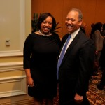NBLSA Chair, Kendra Brown and Benjamin Wilson of Beveridge & Diamond