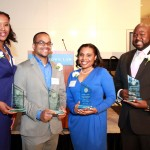 Celebration of Excellence Awardees L-R: Toya Carmichael, David Carlisle, Tiffany Wright, & Nicholas K. Austin