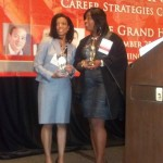 CCWC award winners Elisa Basnight (Buchanan Ingersoll & Rooney) and Alita Wingfield (Morgan Stanley)