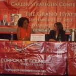 CCWC panelists White House Special Assistant Kamela Vasagam and TV exec and consultant Debra Langford.