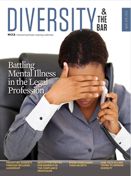 """The Minority Corporate Counsel Association profiles their list of rising star attorneys in their """"Diversity & The Bar"""" magazine."""